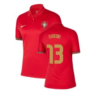 2020-2021 Portugal Home Nike Womens Shirt (EUSEBIO 13)