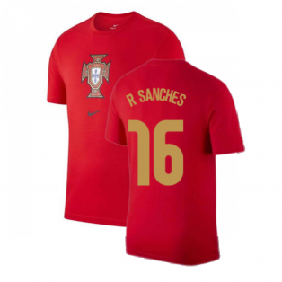 2020-2021 Portugal Nike Evergreen Crest Tee (Red) (R SANCHES 16)