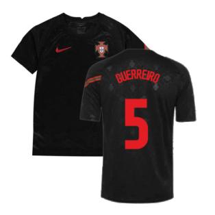 2020-2021 Portugal Pre-Match Training Shirt (Black) - Kids (GUERREIRO 5)