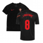 2020-2021 Portugal Pre-Match Training Shirt (Black) - Kids (J Moutinho 8)