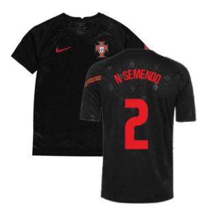 2020-2021 Portugal Pre-Match Training Shirt (Black) - Kids (N SEMENDO 2)