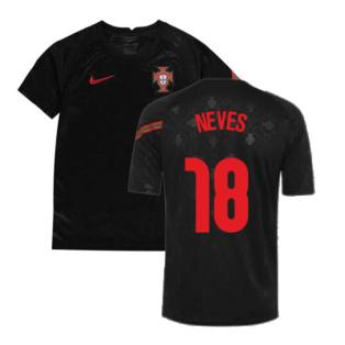 2020-2021 Portugal Pre-Match Training Shirt (Black) - Kids (Neves 18)