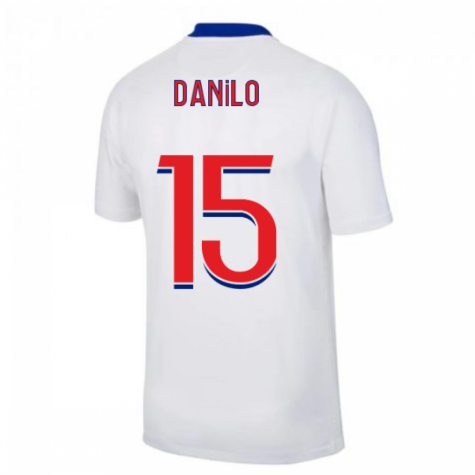 2020-2021 PSG Away Nike Football Shirt (DANILO 15)