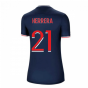 2020-2021 PSG Home Nike Womens Football Shirt (HERRERA 21)