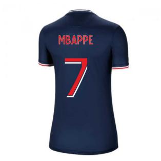 2020-2021 PSG Home Nike Womens Football Shirt (MBAPPE 7)