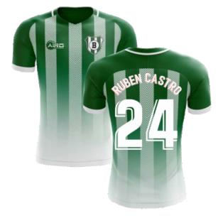 2020-2021 Real Betis Home Concept Football Shirt (Ruben Castro 24) - Kids