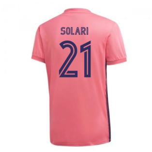 2020-2021 Real Madrid Adidas Away Football Shirt (SOLARI 21)
