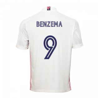 2020-2021 Real Madrid Adidas Home Football Shirt (BENZEMA 9)