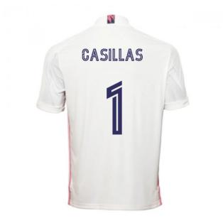 2020-2021 Real Madrid Adidas Home Football Shirt (CASILLAS 1)
