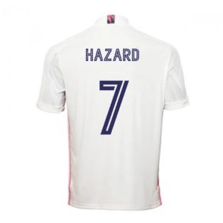 2020-2021 Real Madrid Adidas Home Football Shirt (HAZARD 7)