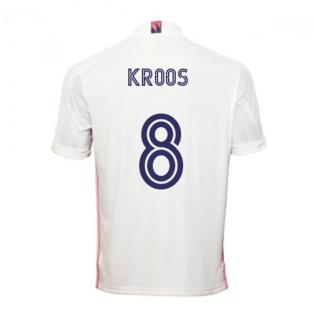 2020-2021 Real Madrid Adidas Home Football Shirt (KROOS 8)