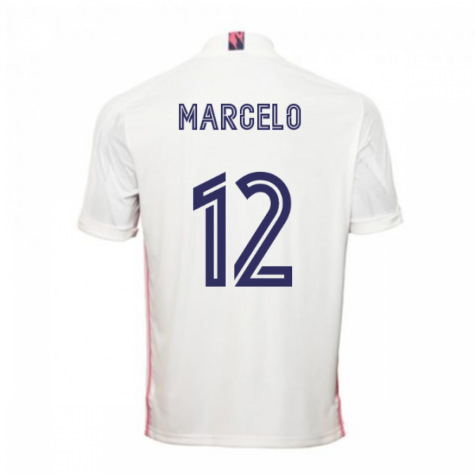 2020-2021 Real Madrid Adidas Home Football Shirt (MARCELO 12)