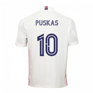 2020-2021 Real Madrid Adidas Home Football Shirt (PUSKAS 10)