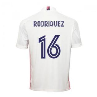 2020-2021 Real Madrid Adidas Home Football Shirt (RODRIQUEZ 16)