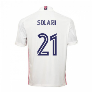 2020-2021 Real Madrid Adidas Home Football Shirt (SOLARI 21)