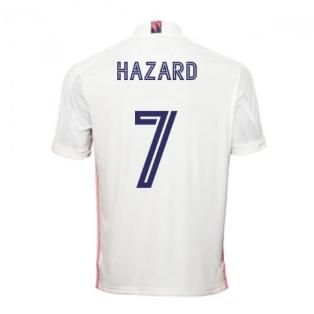 2020-2021 Real Madrid Adidas Home Shirt (Kids) (HAZARD 7)