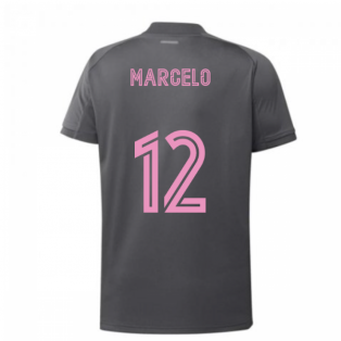 2020-2021 Real Madrid Adidas Training Shirt (Grey) (MARCELO 12)