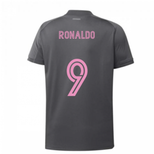 2020-2021 Real Madrid Adidas Training Shirt (Grey) (RONALDO 9)
