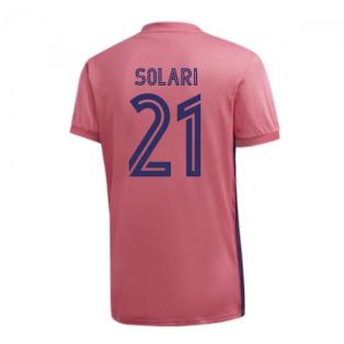 2020-2021 Real Madrid Adidas Womens Away Shirt (SOLARI 21)
