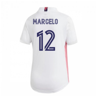 2020-2021 Real Madrid Adidas Womens Home Shirt (MARCELO 12)