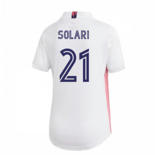 2020-2021 Real Madrid Adidas Womens Home Shirt (SOLARI 21)