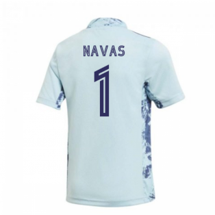 2020-2021 Real Madrid Home Goalkeeper Shirt (Kids) (NAVAS 1)