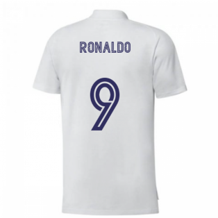 2020-2021 Real Madrid Training Tee (White) (RONALDO 9)