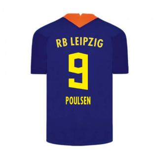 2020-2021 Red Bull Leipzig Away Nike Football Shirt (POULSEN 9)