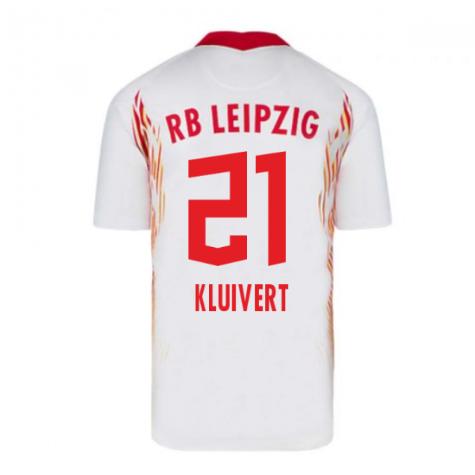 2020-2021 Red Bull Leipzig Home Nike Football Shirt (KLUIVERT 21)