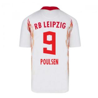 2020-2021 Red Bull Leipzig Home Nike Football Shirt (POULSEN 9)