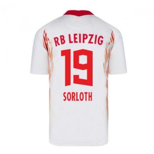 2020-2021 Red Bull Leipzig Home Nike Football Shirt (SORLOTH 19)