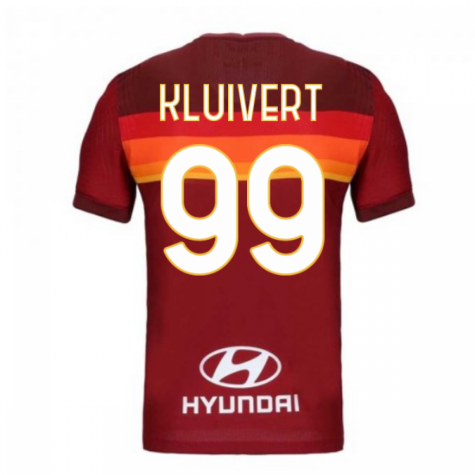 2020-2021 Roma Authentic Vapor Match Home Nike Shirt (KLUIVERT 99)