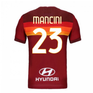 2020-2021 Roma Authentic Vapor Match Home Nike Shirt (MANCINI 23)