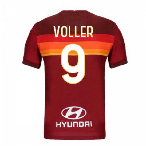 2020-2021 Roma Authentic Vapor Match Home Nike Shirt (VOLLER 9)