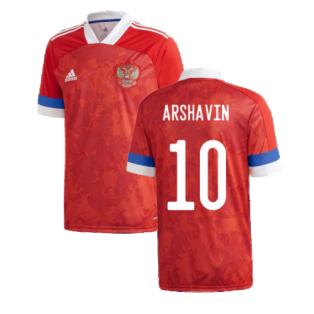 2020-2021 Russia Home Adidas Football Shirt (ARSHAVIN 10)