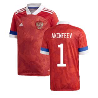 2020-2021 Russia Home Adidas Football Shirt (Kids) (AKINFEEV 1)