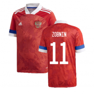 2020-2021 Russia Home Adidas Football Shirt (Kids) (ZOBNIN 11)