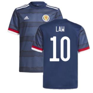 2020-2021 Scotland Home Adidas Football Shirt (LAW 10)