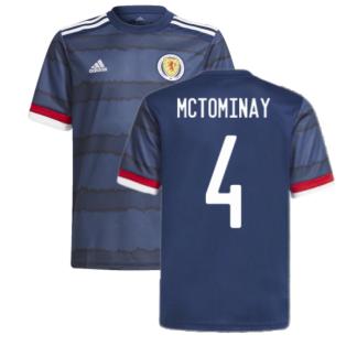 2020-2021 Scotland Home Adidas Football Shirt (McTominay 4)