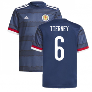 2020-2021 Scotland Home Adidas Football Shirt (Tierney 6)