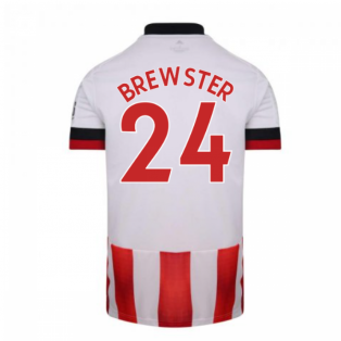 2020-2021 Sheffield United Adidas Home Football Shirt (BREWSTER 24)