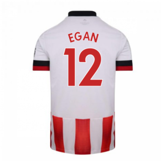 2020-2021 Sheffield United Adidas Home Football Shirt (EGAN 12)