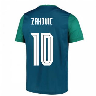 2020-2021 Slovenia Away Nike Football Shirt (ZAHOVIC 10)
