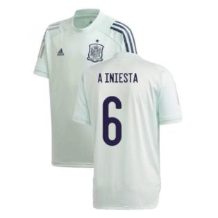 2020-2021 Spain Adidas Training Jersey (Dash Green) (A INIESTA 6)