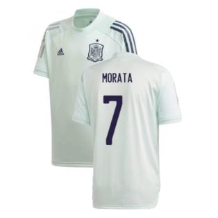 2020-2021 Spain Adidas Training Jersey (Dash Green) (MORATA 7)
