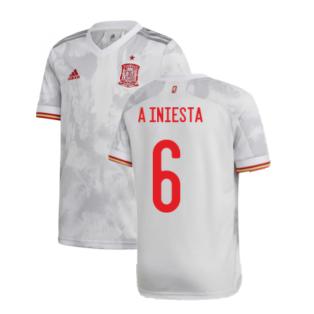 2020-2021 Spain Away Shirt (A INIESTA 6)