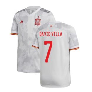 2020-2021 Spain Away Shirt (DAVID VILLA 7)