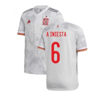 2020-2021 Spain Away Shirt (Kids) (A INIESTA 6)