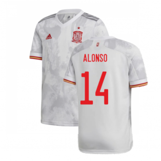 2020-2021 Spain Away Shirt (Kids) (ALONSO 14)
