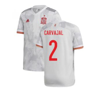 2020-2021 Spain Away Shirt (Kids) (CARVAJAL 2)